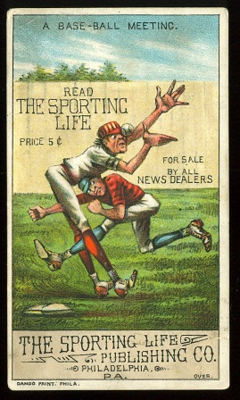 1800s sporting life trade card front