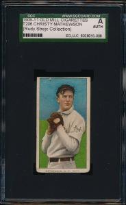 1909-11 T206 Matty front
