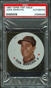 1967 Topps Disc Marichal Front