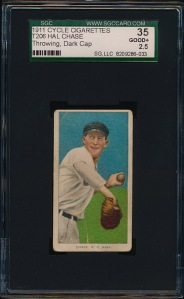 1911 T206 Chase Throwing Front