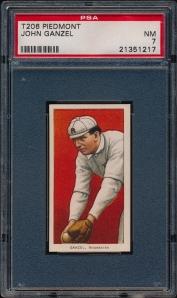 1909 T206 Ganzel Front