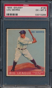 1933 Goudey Gehrig Front