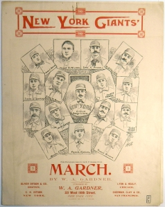 Giants Sheet Music Front