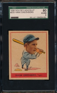 1938 Goudey A Greenberg Front