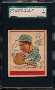 1938 Goudey B Lombardi Front