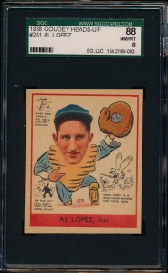1938 Goudey B Lopez Front