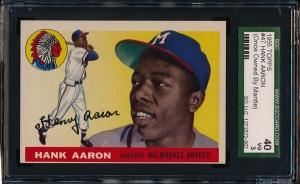 1955 Topps Aaron Horiz Front
