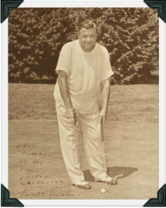 Ruth golfing in Westport, CT in June, 1946