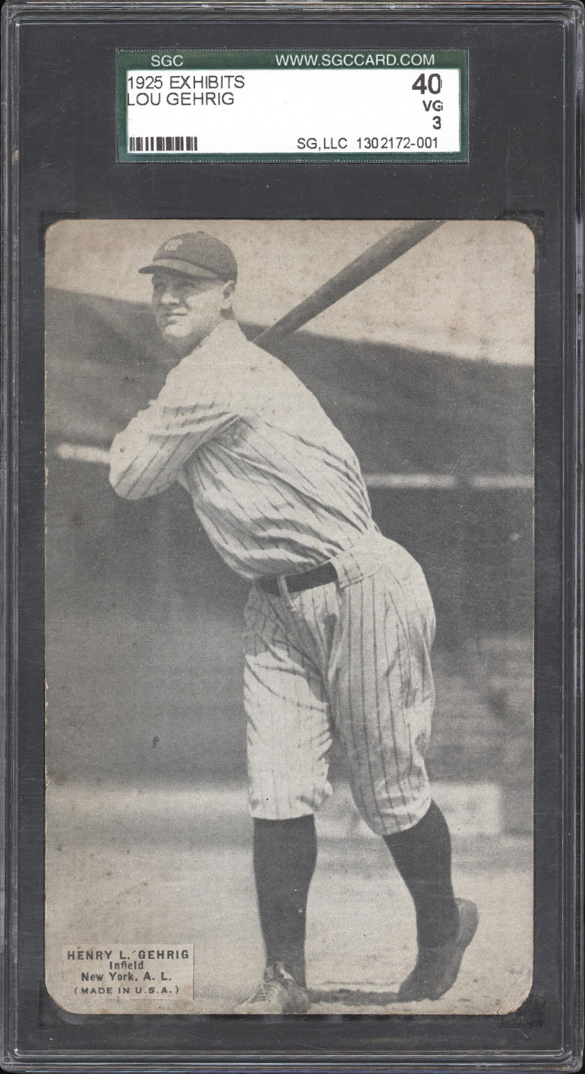 1925 Exhibit Gehrig Front