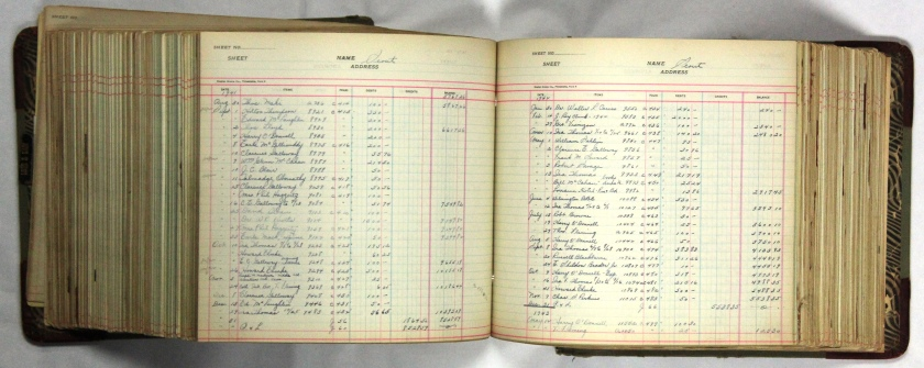 1941 Athletics journal entries of payments to scouts